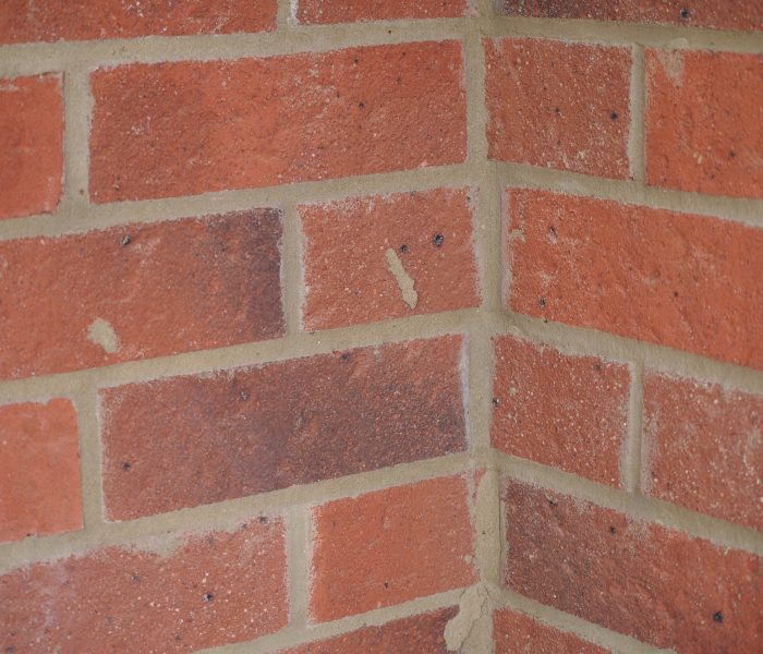 Mortar snots to new brickwork