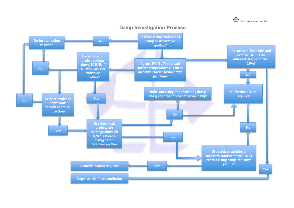 Damp Investigation Process Flowchart