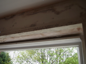 Penetrating damp above kitchen window