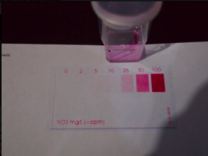 Nitrates Test result of 25mg/l