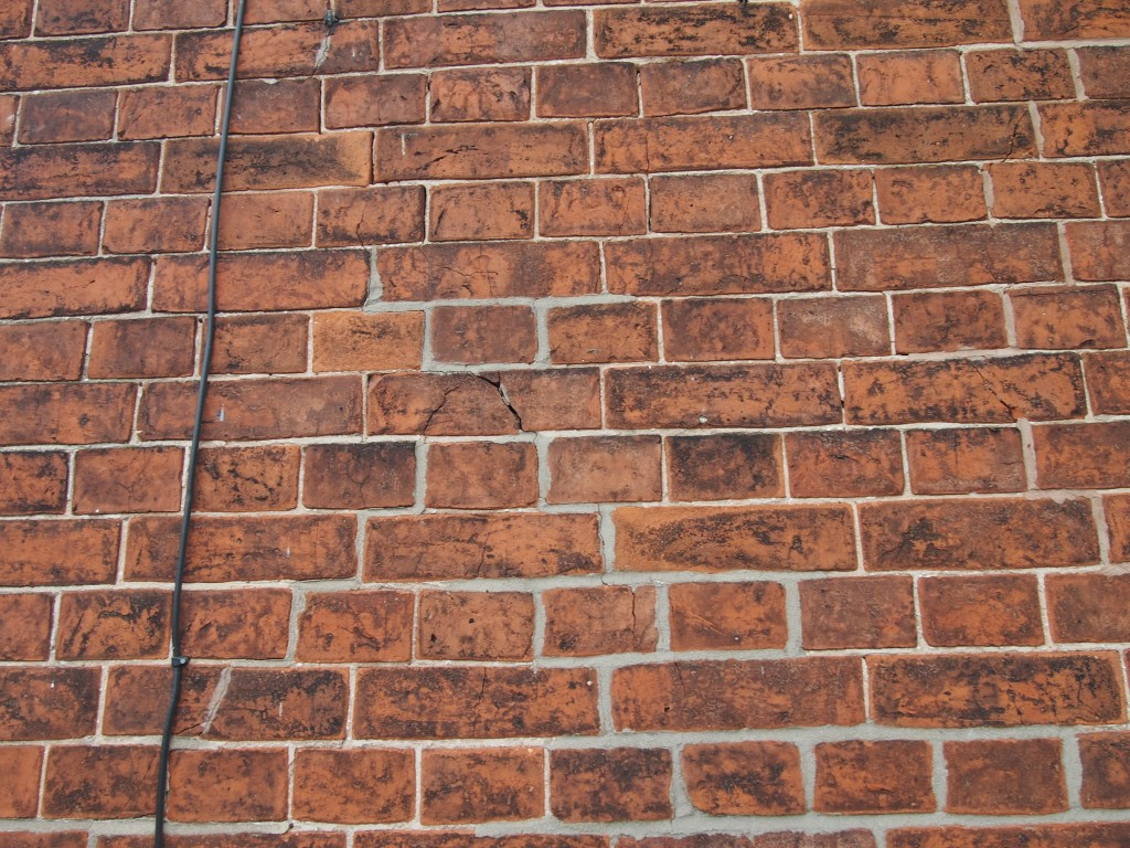 Mortar joint width almost doubled due to poor repointing