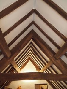 Substantial oak frame takes the load