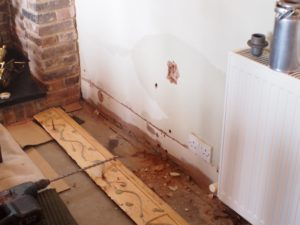 A classic case of induced rising damp