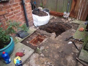 Drainage Excavation Underway