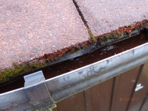 Eaves flashing only visible in limited areas