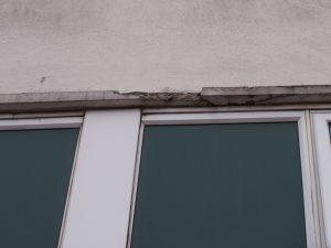 Defective concrete due to carbonation