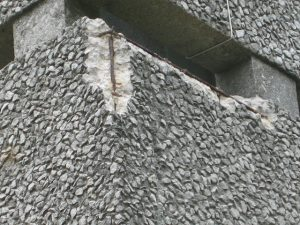 Rebar corrosion & spalling caused by carbonation