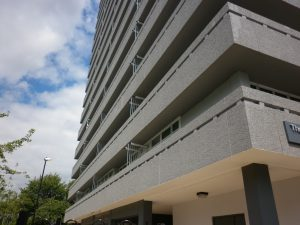 Completed concrete repairs with anti-carbonation coating