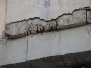 Rebar corrosion due to concrete carbonation