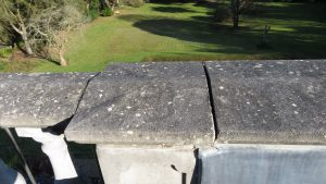 Open perp joints between coping stones