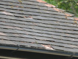 Spalling to roof tiles