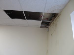 Main area of roof leak